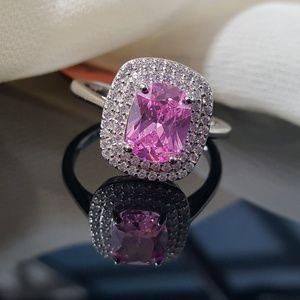 Jewelry - Simulated Pink Sapphire n White Diamonds 💖💖💖